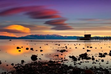 north lake tahoe sunset