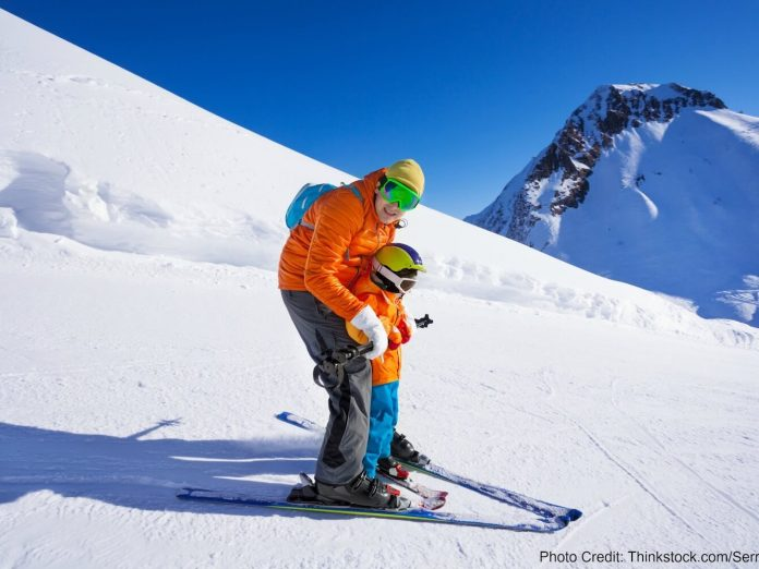 skiing with your son is one of the best things to put on your 3-Day Itinerary in Lake Tahoe