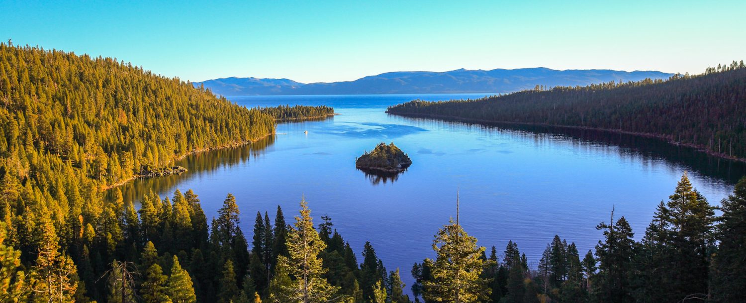Emerald bay Sunrise at Lake Tahoe, California-USA