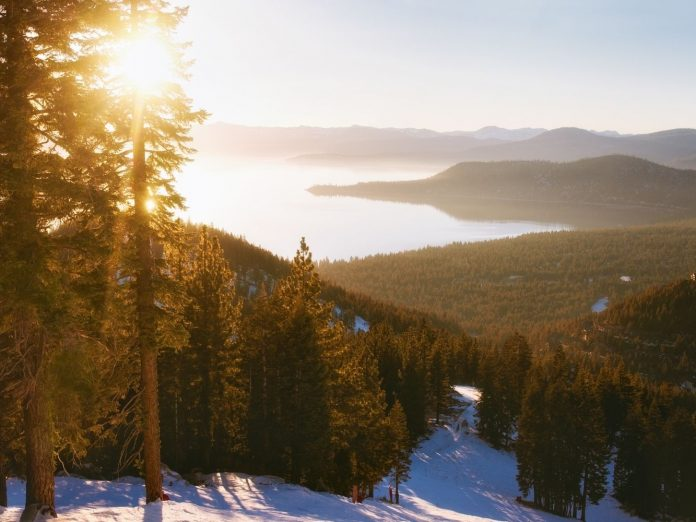 View of Lake Tahoe in the fall/winter.
